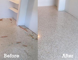 Refurbishing Existing Terrazzo Marble Cement Floors In